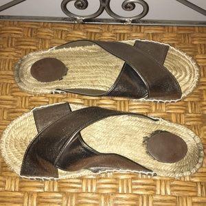 Shoes - Boho silver tone size 9 sandals